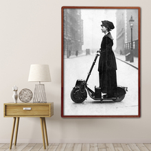 Fashion 1916 Scooter Wall Art Canvas Painting Nordic Posters And Prints vintage Decor Picture Living Room Salon