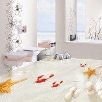 משלוח חינם חוף חול ריצוף רצפה עמיד למים חדר אמבטיה מסעדה לובי מחקר טפט ציור קיר
