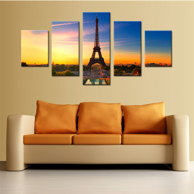 Eiffel Tower Canvas Set Canvas Prints Wall Art Wall Decor Living ...