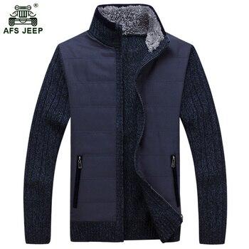 Darmowa wysyłka AFS JEEP 2017 zima Wiosna Nowych mężczyzna Ciepły Gruby sweter Sweter Moda Topy Coat Mężczyźni 160zr