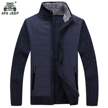 Free shipping AFS JEEP 2017 winter Spring New Men's Warm Thick cardigan Sweater Fashion Tops Coat Men 160zr