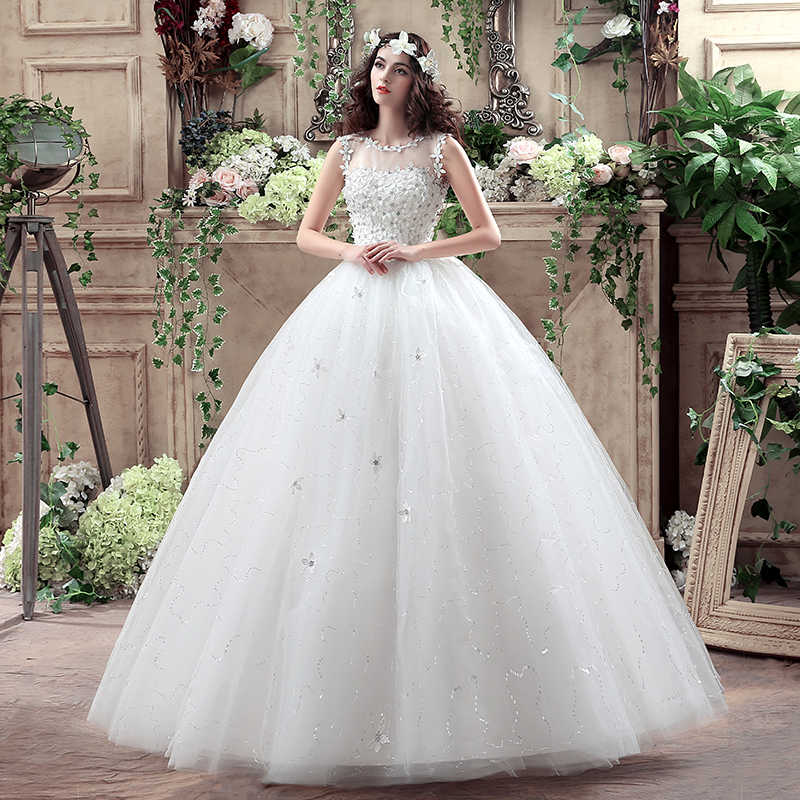 Summer Real Photo Tulle Flowers Transparent Lace Wedding Dresses Cheap  White Bride Gowns Custom Made Vestidos 7c40c399f19b