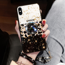 ONEPLANT Leopard-print Luxury Phone Case Full Drill Bracket For