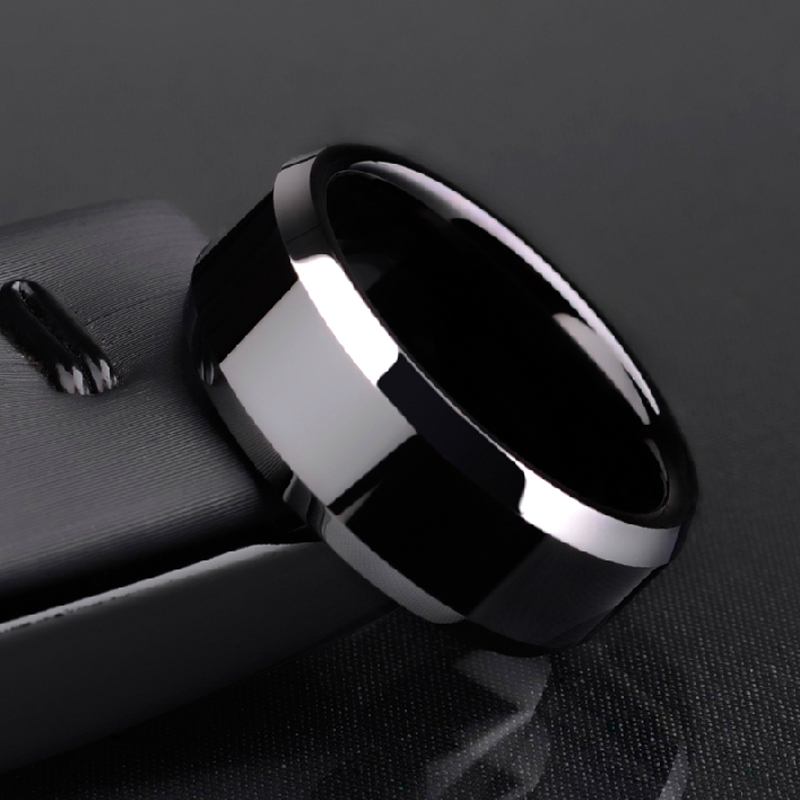 New Arrival Free Shipping 6mm/8mm Tungsten Man's Rings Plating the IP Black High Polished Comfort Fit Band Size 5-12