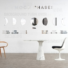 Mirror Wall Stickers Sticker Room Decoration For Home Bedroom Decor Modern Kids Household Moon Phases Mural Wallpaper R071 mirror wall stickers sticker room decoration home decor kids for bedroom variety fonts name letters alphabet customizable r242