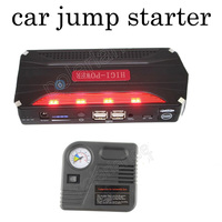 2016 new 12000mAh 12 V Multi function Jump Starter with pump Car Emergency Power Bank Battery Charger for car Free shipping