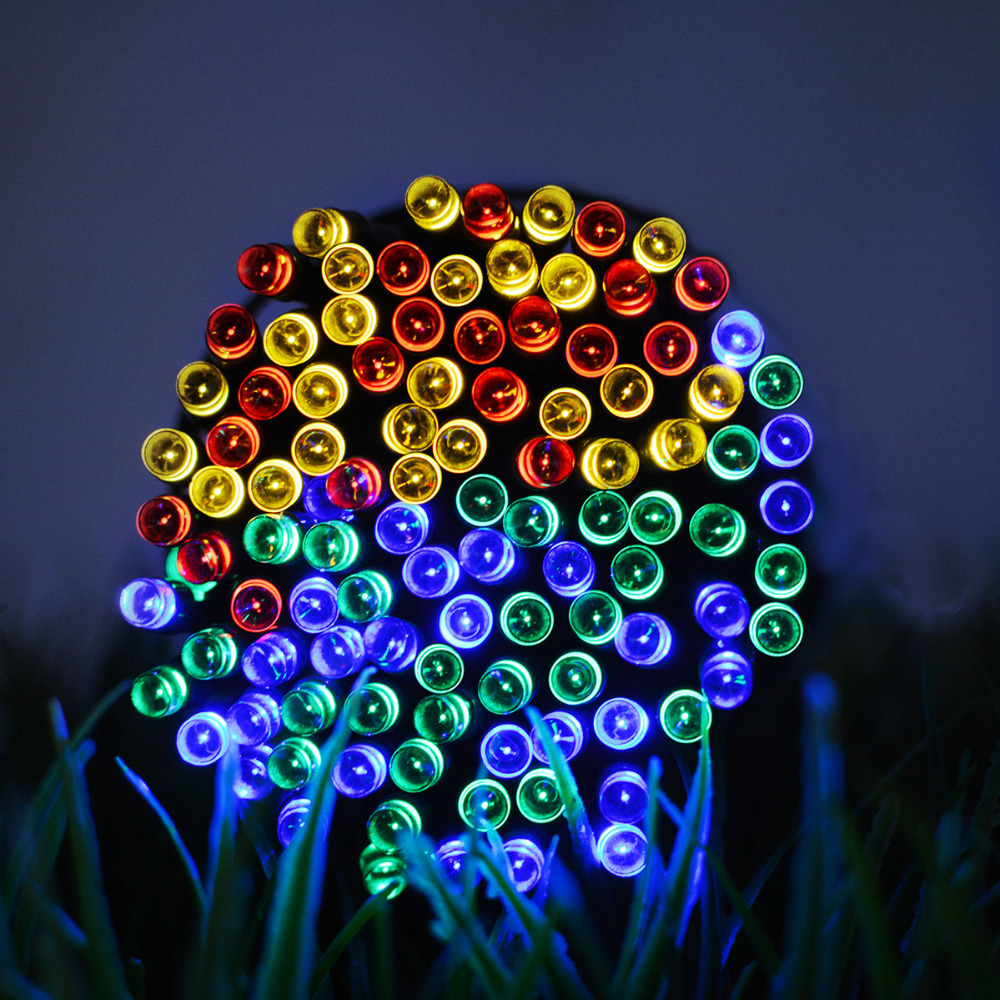 50 100 200 LED Solar Power Fairy Lights Holiday Lighting Christmas Holiday Party Outdoor Garden Xmas Tree Decoration String Lamp
