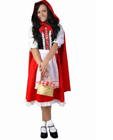 Little Red Riding Hood cosplay DS carnival nightclub carnival sexy party costume halloween dress+cloak girl women uniform