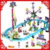 LEPIN 01008 Friends Amusement Park Roller Coaster 1124Pcs Building Block DIY Educational Construction Assemble Toys For
