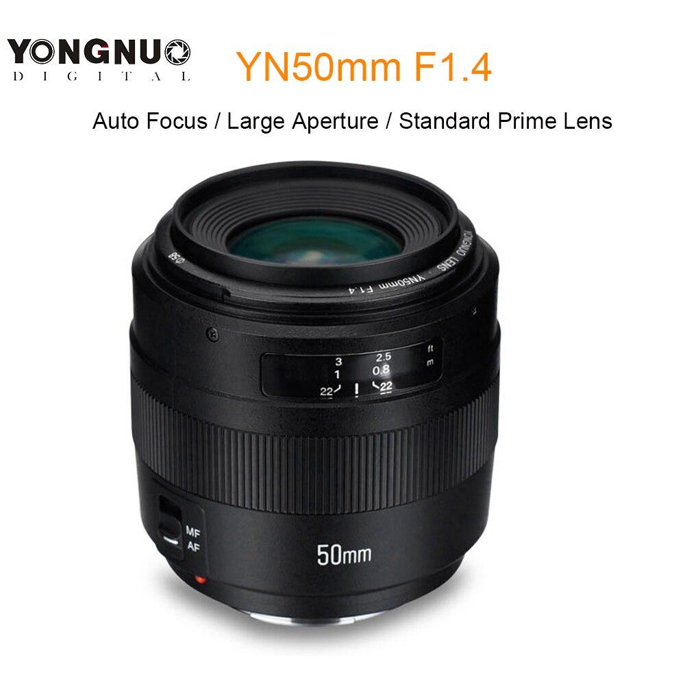 YONGNUO YN50mm F1.4 Auto Focus 50mm Standard Objectif Objectif à Grande Ouverture pour Canon EOS 760D 70D 5D2 5D3 600D 7D DSLR Caméra
