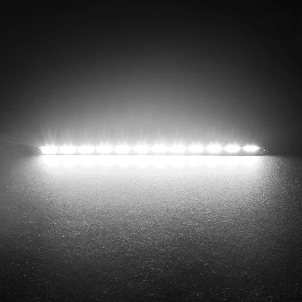 車のスタイリングデイタイムランニングライト光源smd車drl 7030 デイライトledストリップ 2 個 12 led