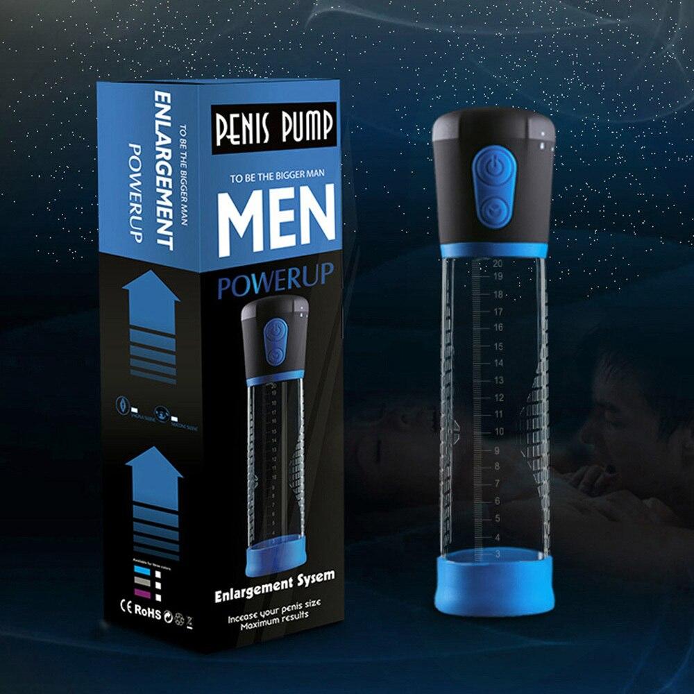 Electric Penis Pump Enlargement Pump Enlarge Automatic Vacuum Suction Penis Extend Sex Toy Exercise Adult Product for Men
