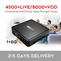 Best French IPTV Box V96 mini Android TV Box with 1200+ 1 Year IPTV Europe France Arabic Africa Morocco football Smart IP TV Box