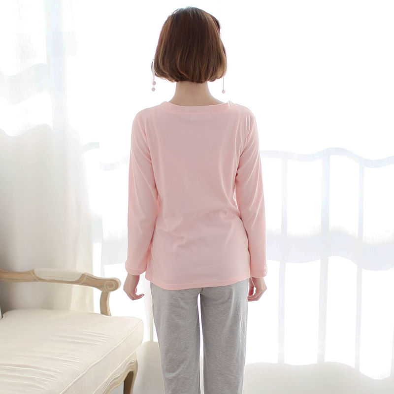 Full Sleeve MaternitySets Sleep&Lounge Mummy Lounge Breastfeeding Cotton pregnant women Nursing Long Sleeve Tops+pants Clothes