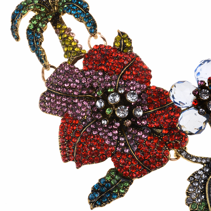 Image 4 - PPG&PGG New Za Design Multicolor Crystal Beads Flower Necklaces Rhinestone Statement Choker Necklace Bird Sharp Jewelry-in Choker Necklaces from Jewelry & Accessories