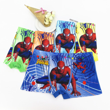 10Pcs Spiderman Cartoon Boys Boxer