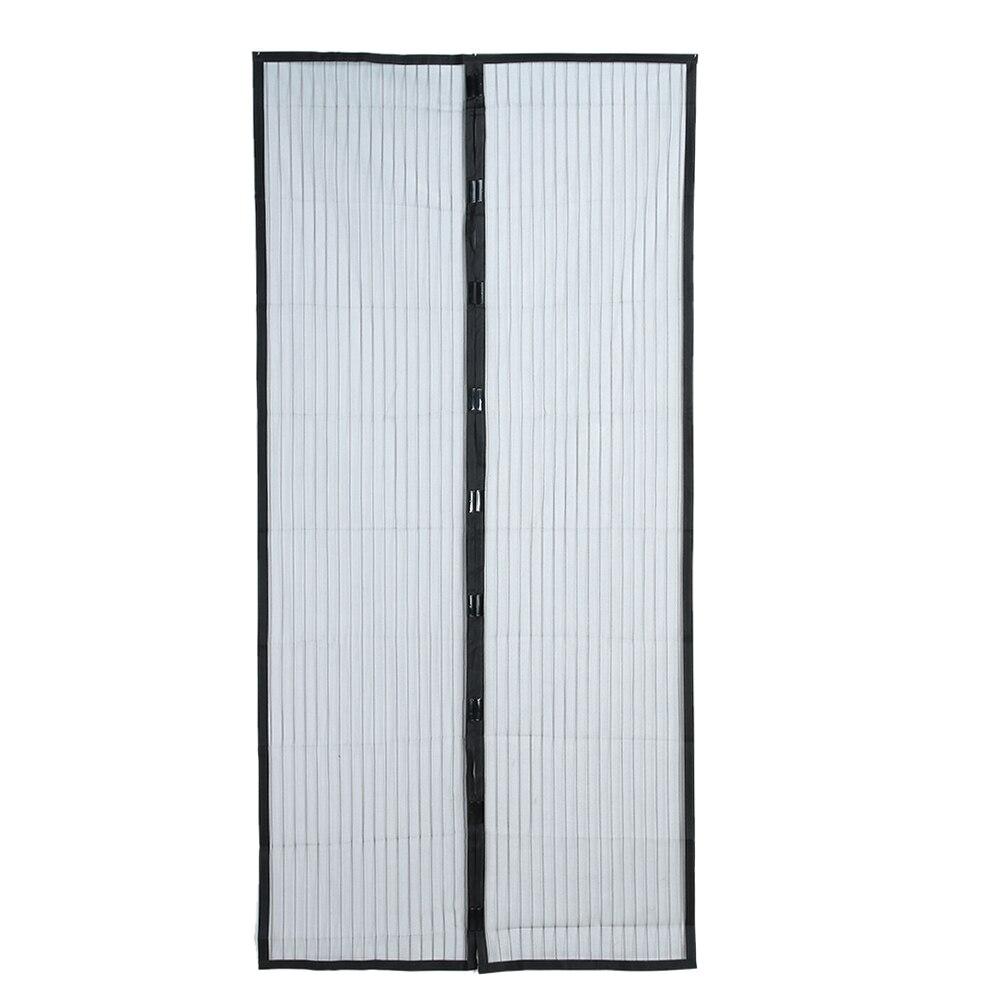 210X100 cm Magnétique Mains Libres D'été Anti-Moustique Rideaux Cryptage Moustique Net Sur la Porte Aimants écran Porte Rideau