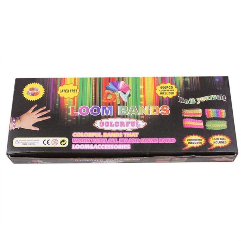 Regenboog-elastiekjes Educatief speelgoed voor kinderen armband-weefmachines