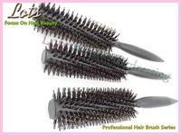 Pro החדש עגול מברשת שיער סט 3x בגדלים שונים שחור עץ זיפי מברשות לשיער סלון סטיילינג כלי שיער Y-06