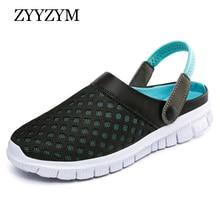 купить ZYYZYM Slipper Men Sandals Summer Unisex Style Fashion Light Casual Beach Sandals Men Slipper Flip Flops Big size 36-46 по цене 582.75 рублей