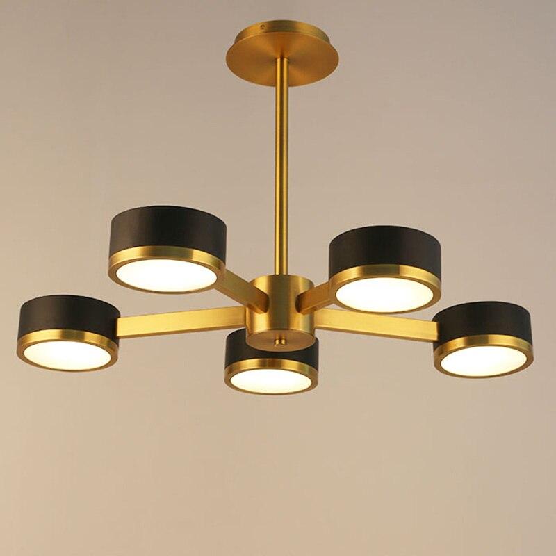 New Classic Nordic Bedroom Designer Pendant Light 5 Heads Round Pendant Lamp For Living Room Bedroom