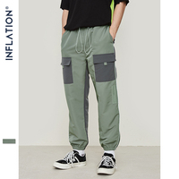 INFLATION 2019 Men Hip Hop Streetwear Fashion Cargo Pants Multi Pocket Casual Pants Male Harem Trousers Jogger Pants 9342S