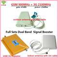 1 Sets LCD Display 3G W-CDMA 2100MHz GSM 900Mhz Dual Band Cell Phone Signal Booster GSM 900 2100 UMTS Signal Repeater Amplifier
