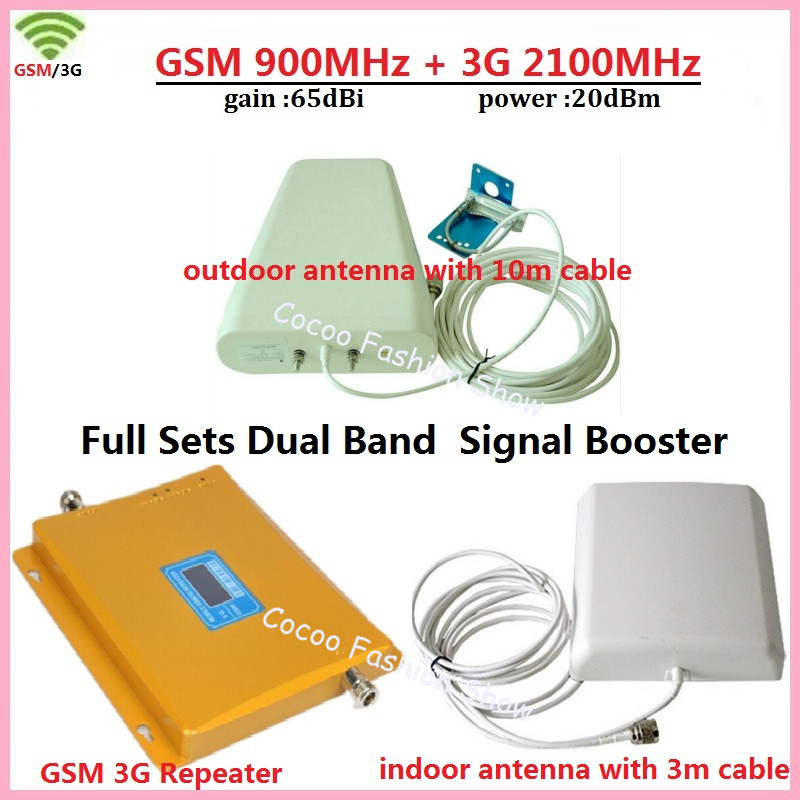 LCD Display Dual Band 3G W-CDMA 2100MHz GSM 900Mhz Repeater GSM Mobile Phone Signal Booster 3G UMTS Signal Repeater AmplifierLCD Display Dual Band 3G W-CDMA 2100MHz GSM 900Mhz Repeater GSM Mobile Phone Signal Booster 3G UMTS Signal Repeater Amplifier