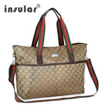 лучшая цена Insular New Maternity Bag for Mummy Diaper Bag Waterproof Baby Stroller Bag Large Capacity Nursing Bags for Baby Care Messenger