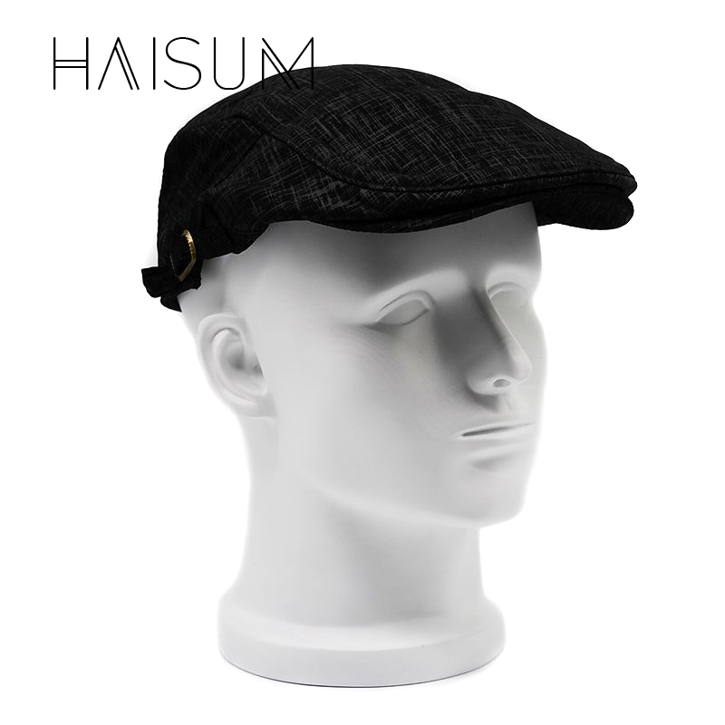 2018 Real Rushed Golf Driving Sun Flat Cabbie Newsboy Caps Striped For Peaked Hat Cap Hats For Retro Beret Warm Autumn Cs50