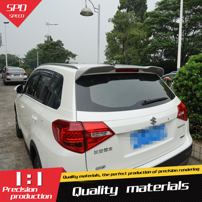 For <font><b>Suzuki</b></font> Grand Vitara Spoiler ABS Material Car Rear Wing Primer Color Rear Spoiler For <font><b>Suzuki</b></font> Grand Vitara Spoiler 2014-2016 image