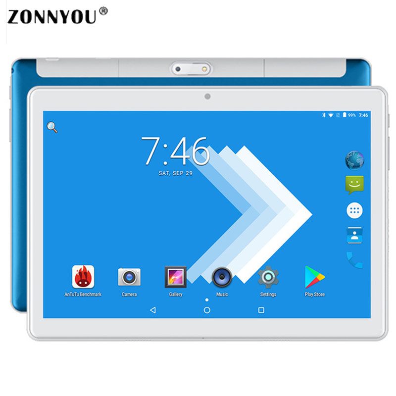10/1 inch Tablet PC 2.5D Steel Screen Android 8.0 Google 3G Call Octa Core 4GB RAM 32GB ROM Wi Fi Bluetooth IPS 2.5D Glass Table