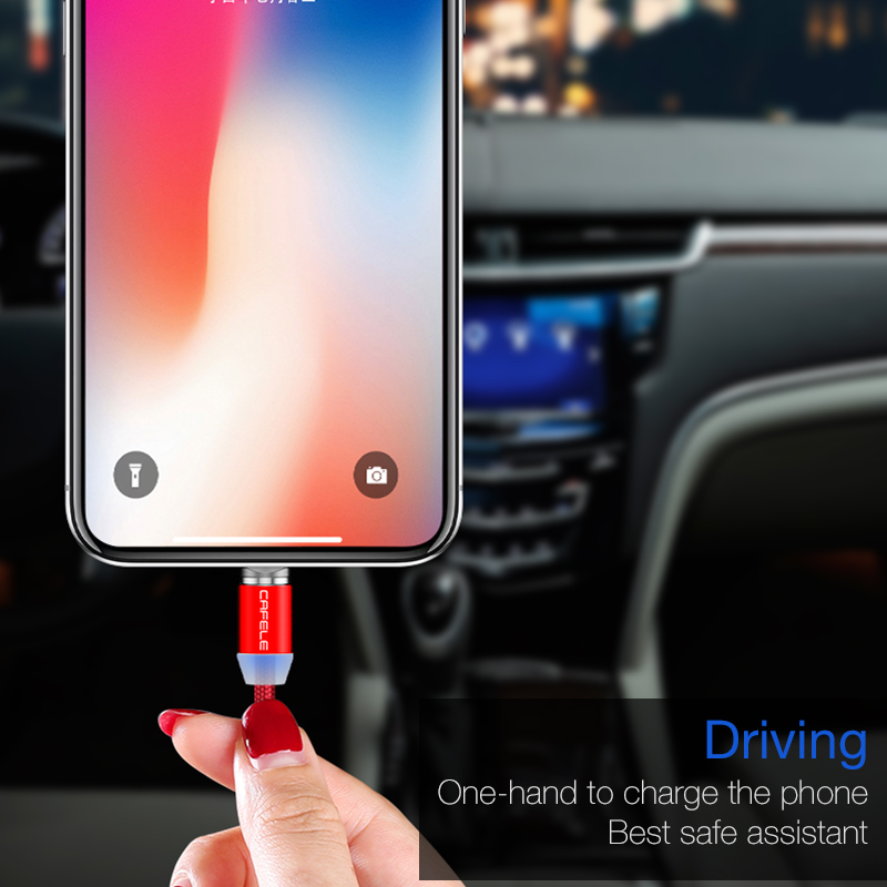 Cafele Magnetic USB C Cable Micro USB for iPhone XS 8 7 6 Cable Nylon Weave USB Type C Cable 100cm 200cm DC 5V 2 4A MAX in Mobile Phone Cables from Cellphones Telecommunications