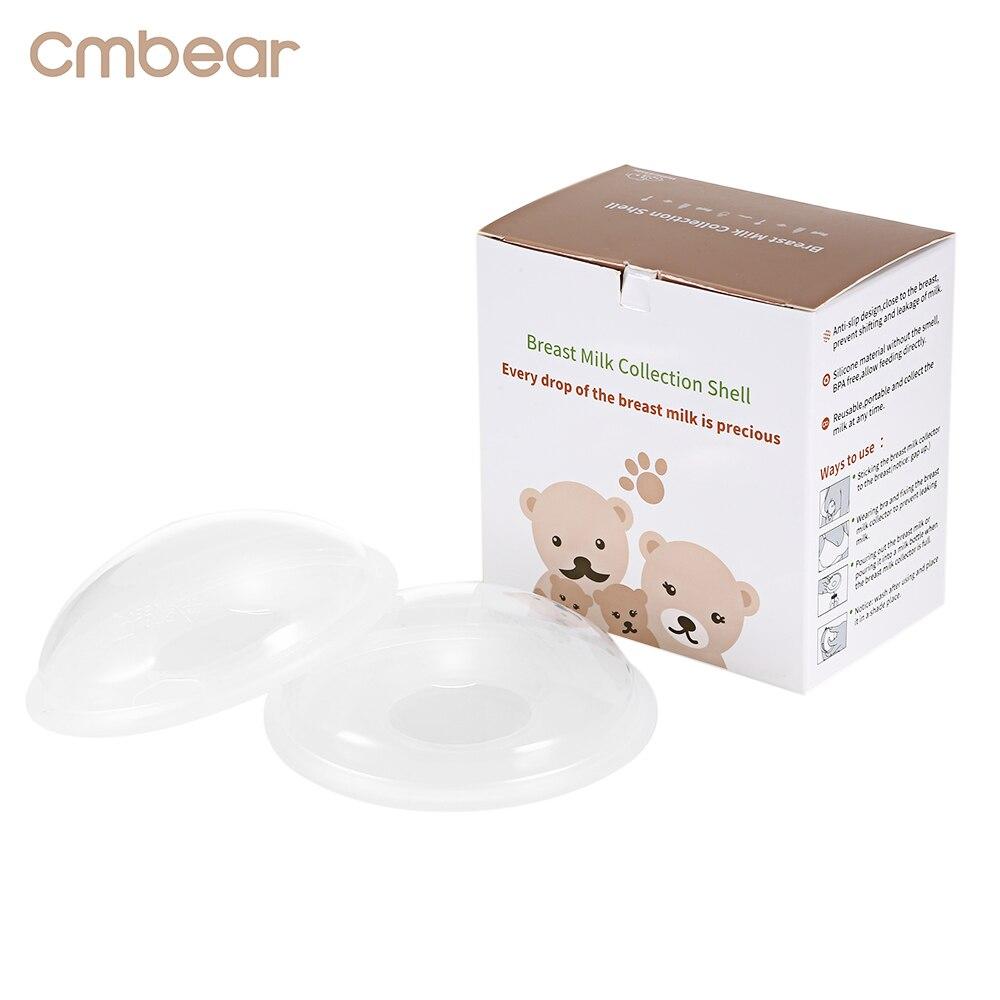 Cmbear 2pcs Baby Feeding Breast Milk Washable 10ml Reusable Maternity Nursing Collector Shell