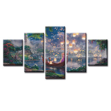 Top Wall Deocr Canvas Painting 5 Pcs Movie cartoon poster Modern Printed Oil Pictures Living Room Frame or No