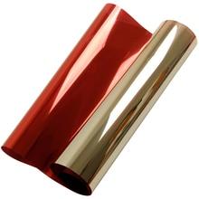 """0,5x5 м(2"""" x16ft) серебристые красные зеркальные отражающие односторонняя пленка для окна непрозрачная липкая задняя стеклянная тонированный винил"""