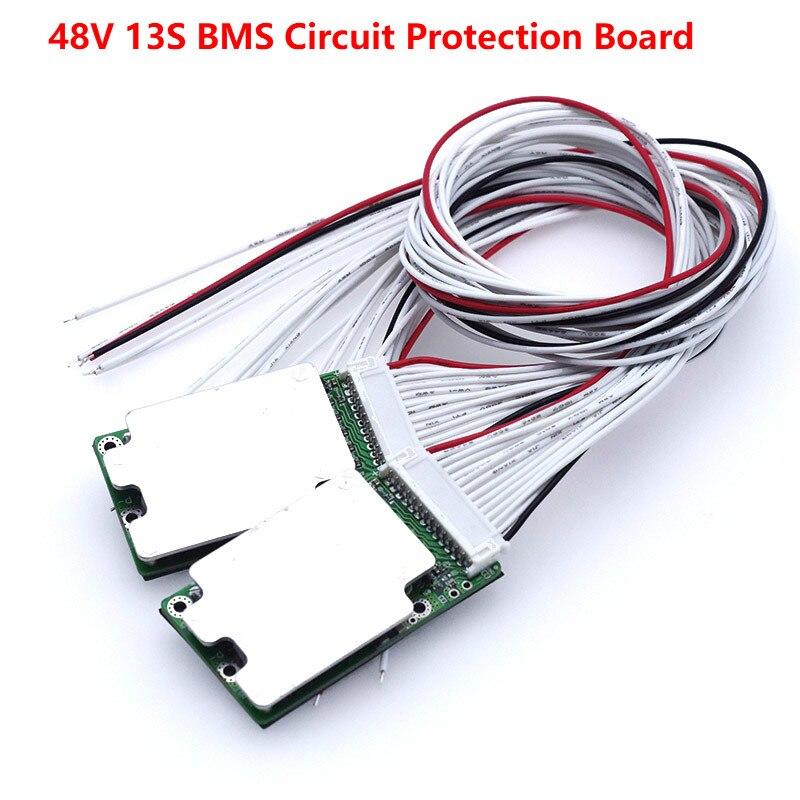 1 pcs 48 v 13 s 20A 70A Li-ion 18650 Batterie BMS PCB conseil PCM w/Équilibre Intégré circuits Conseil pour e-bike ebicycle