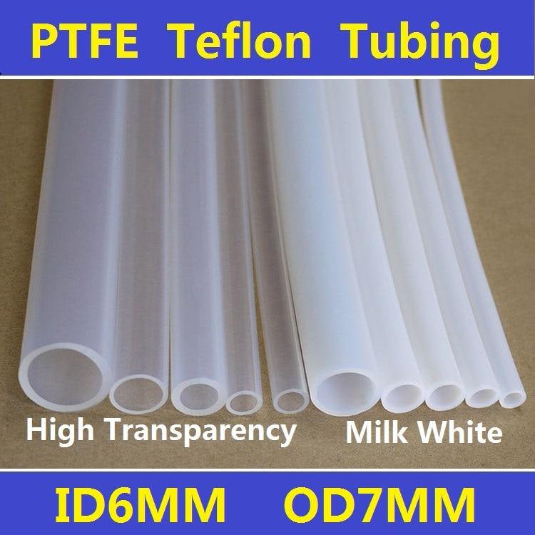 ᓂ6x7mm PTFE F4 Teflon Tubing Pipe ID6mm OD7mm Brand New Wire ...
