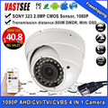 1080P AHD/TVI/CVI/CVBS CCTV camera 4 in 1 Cameras sony sensor varifocal waterproof IP66/vandarproof room dome outdoor security