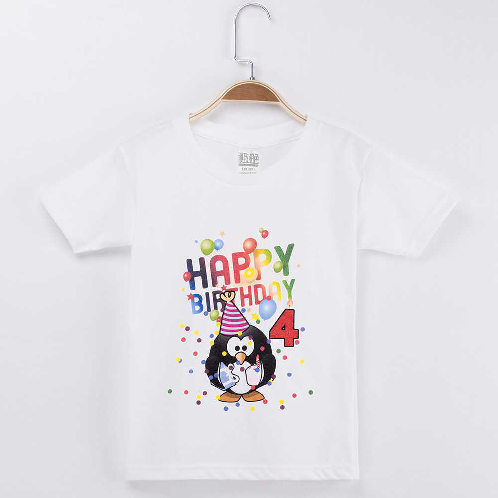 2471dfc0a Detail Feedback Questions about 2019 Penguin Clothes Birthday T shirt  Cotton Kids Tops Girls Short Sleeve Children Clothing Boys Baby Tee Shirts  Custom ...