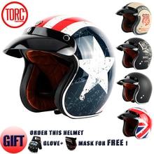 Hot sale TORC T50 Route 66 Motorcycle helmet jet Vintage helmet Open face retro 3/4 half helmet casco moto capacete motoqueiro