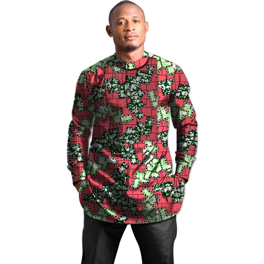 African t shirt male tops print long sleeve men africa t for Print a photo on at shirt