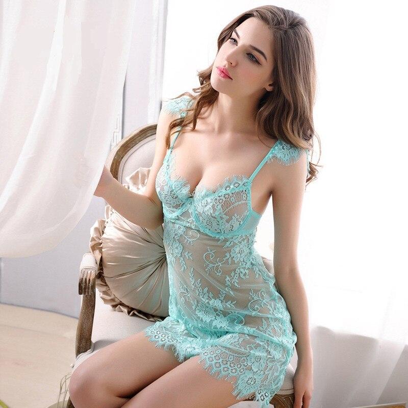 Nighties para as mulheres nightgowns mulheres pijamas roupa vestido de renda vestido vestido de noite das mulheres sleepwear sexy camisola de dormir