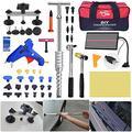 PDR сумка PDR ремонтная доска Dent LED Hammer 65 шт. безболезненный инструмент с машинными наборами для удаления града подъемник инструменты для тела ...