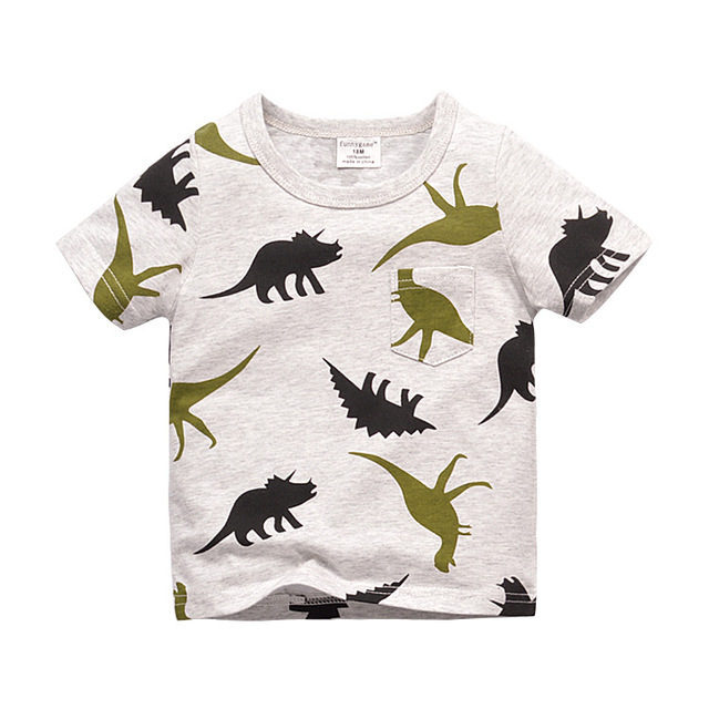 High quality Brand Summer boys girls t shirt Jurassic World dinosaur
