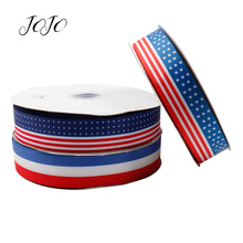 JOJO BOWS 38mm 5y Grosgrain Ribbon National Flag Printed Webbing For Needlework DIY Hair Bows Gift Wrapping Holiday Decoration