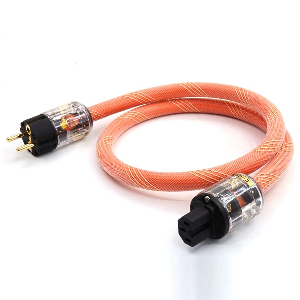 Hifi audio 5N OCC AC Power Kabel P-029E EU power plug c-029 Iec stecker stromkabel