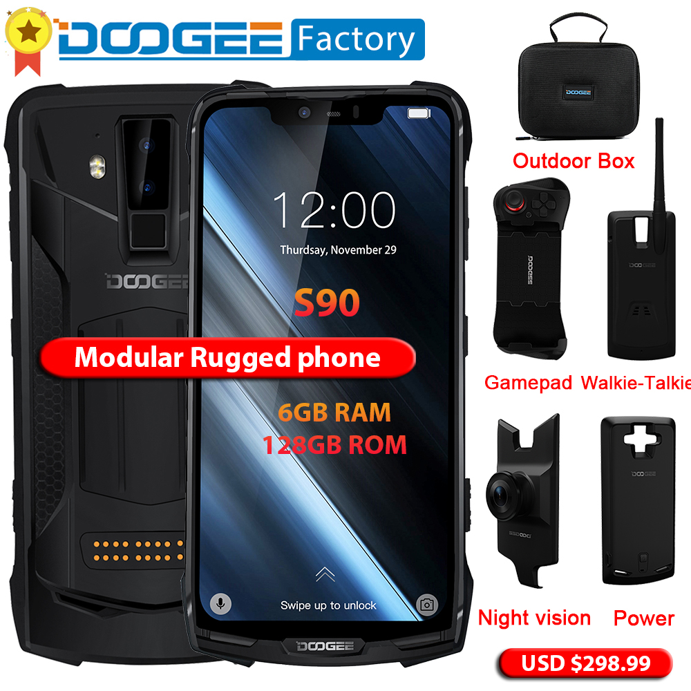 Doogee S90 Modular Smartphone Helio P60 Octa Core Nfc 6.18 Fhd+ Android 8.1 Ip68/ip69k 6gb 128gb 16mp Camera 4g Mobile Phone Agreeable Sweetness
