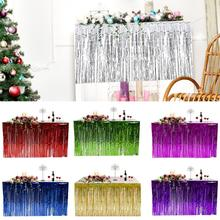 Wholesale Hawaiian Party Decoration Fringed Table Skirt Cele