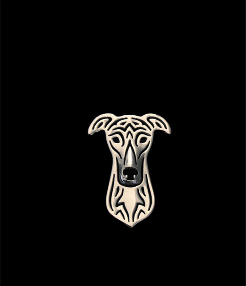Hot Wholesale Women and Men Lapel Pin Greyhound Brooch Trendy